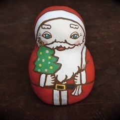 BELL-13 サンタ土鈴 Claybell of Santa Claus