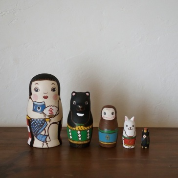 MM5-1 Matryoshka 5sets 金太郎 KinTaro  Size:11.5cm/Material: wood  ¥9,500+Tax