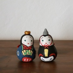 BELL-19 雛土鈴(2個組) Claybell of Hina doll (Two sets)