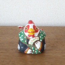 BELLETO-22 干支土鈴 「左扇鶏」
