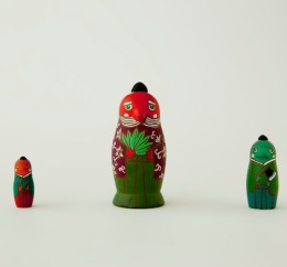 MS3-9 Matryoshka 3sets 天狗 Tengu  Size:7cm/Material: wood  ¥6,500+Tax