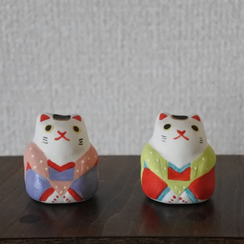ミニ福猫 Mini Lucky Cat Size:3.3×3.3×3.8cm Materials:porcelain ¥1,500+tax