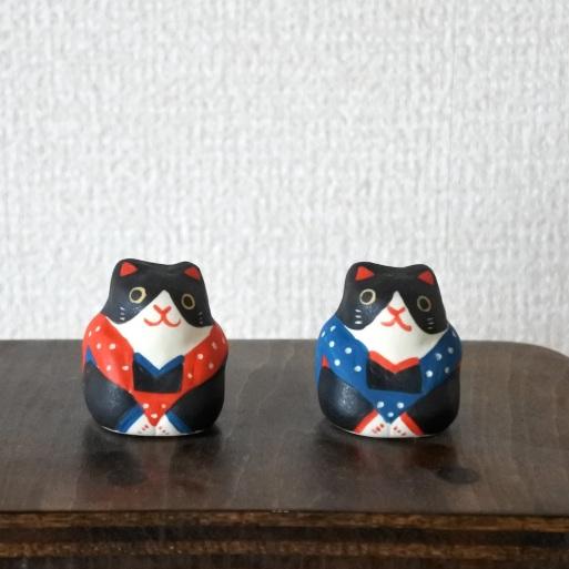 ミニ福猫 Mini Lucky Cat  Size:3.3×3.3×3.8cm Materials:porcelain  ¥1,500+TAX